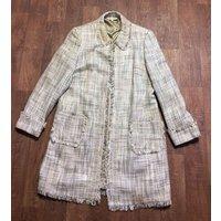 Vintage 1970s Cream/beige Laura Ashley Coat Open Size