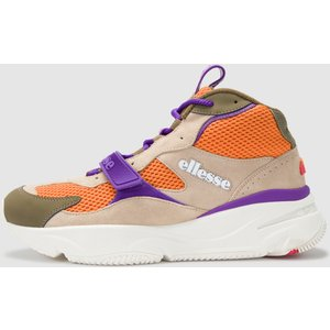 Ellesse Mens Aurano Mid Trainer Khaki Lt Khk/org/purp 610330 8 Mens Footwear, LT KHK/ORG/PURP