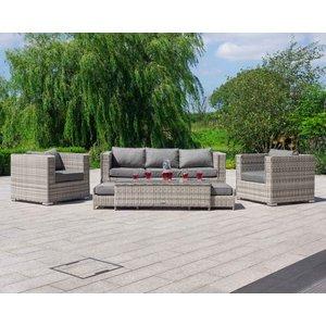 Rattan Direct 3 Seater Rattan Garden Sofa Set In Grey - Ascot Set Asn 008, Grey