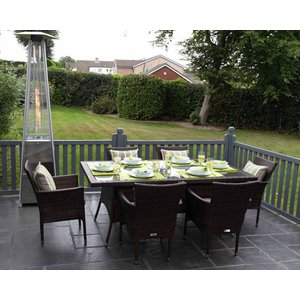 Rattan Direct 6 Seat Rattan Garden Dining Set With Rectangular Dining Table In Brown - Cambridge Set Cam 019, Brown