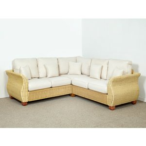 Rattan Direct Chelsea Wicker 233cm X 233cm Rattan Natural Corner Sofa In Oatmeal - Chelsea  Set Chl 103 Full 2