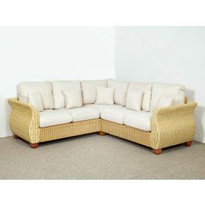 Rattan Direct Conservatory Wicker Corner Sofa In Oatmeal - 158cm X 233cm - Chelsea Brown Set Chl 088 Full, Brown