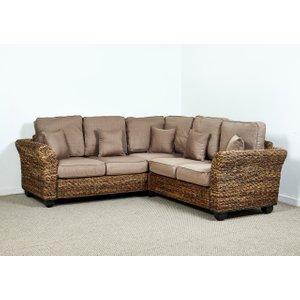 Rattan Direct Kingston Abaca 216cm X 216cm Corner Sofa In Autumn Biscuit - Kingston  Set King 201 Full 2