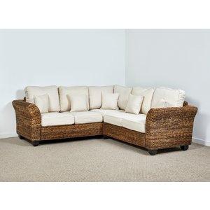 Rattan Direct Rattan Conservatory Corner Sofa In Oatmeal - Kingston Abaca 161cm X 271cm Brown Set King 079 Full, Brown
