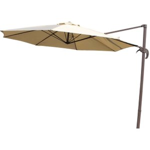 Rattan Direct Rotating Cantilever Parasol In Brown - No Base Set Roc 004, Brown