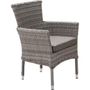 Rattan Direct Stackable Rattan Garden Chair In Grey - Cambridge Uni89938, Grey
