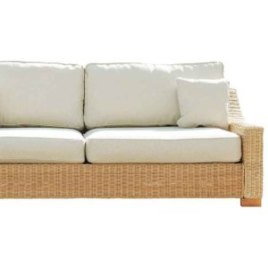 Rattan Direct Wicker Rattan Conservatory Corner Sofa In Autumn Biscuit - Regal 209cm X 264cm Brown Set Rgl 157 Full, Brown