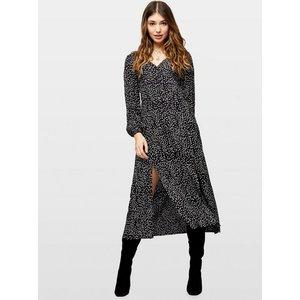 Miss Selfridge Womens Black Arrow Print Button Through Midi Skater Dress, Black Ms18s54ablk Womens Dresses & Skirts, BLACK