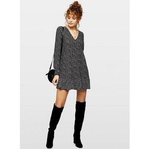 Miss Selfridge Womens Black Ditsy Frill Hem Smock Dress, Black Ms18e09bblk Womens Dresses & Skirts, BLACK
