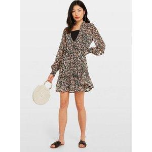 Miss Selfridge Womens Black Ditsy Print Smock Dress, Black Ms18s10xblk Womens Dresses & Skirts, BLACK