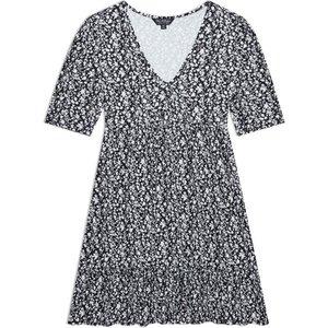 Miss Selfridge Womens Black Ditsy Print Smock Dress, Black Ms18j20bblk Womens Dresses & Skirts, BLACK