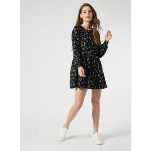 Miss Selfridge Womens Black Floral Print Smock Dress, Black Ms18f10cblk Womens Dresses & Skirts, BLACK