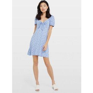 Miss Selfridge Womens Blue Spot Milkmaid Tea Dress, Blue Ms18e50xblu Womens Dresses & Skirts, BLUE