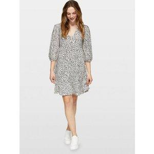Miss Selfridge Womens Cream 3 Quarter Sleeve Smock Ditsy Floral Dress, Multi Ms18e23bcrm Womens Outerwear, Multi