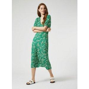 Miss Selfridge Womens Green Floral Print Midi Skater Dress, Green Ms18t05cgrn Womens Dresses & Skirts, GREEN