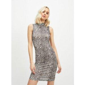 Miss Selfridge Womens Multi Colour Feather Print Bodycon Dress, White Ms18c87xwht Womens Outerwear, WHITE