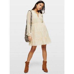 Miss Selfridge Womens Petite Beige Dobby Smock Dress, Beige Ms34e49wnde Womens Dresses & Skirts, Beige