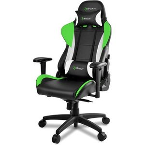 Arozzi Verona Pro V2 Pc Gaming Chair Upholstered Padded Seat Blackgreenwhite Verona Pro V2 Uk Gn Chairs