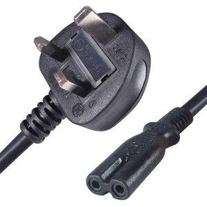Connekt Gear 27-0035 Power Cable Black 10 M Power Plug Type G C7 Coupler Cables, Parts & Power Supplies