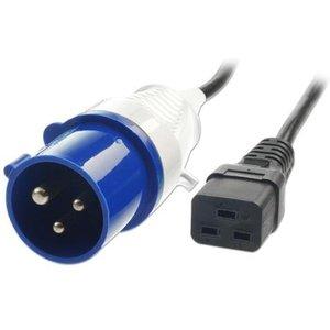 Lindy 30109 Power Cable Black 3 M C19 Coupler Cables, Parts & Power Supplies