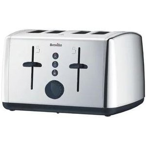 Polished Stainless Steel 4 Slice Toaster Vtt549 Computer Components