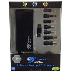 Powercool Pc-acu90h-s V3 90w 8-tip Universal Laptop Charger Psupcacu90hsv4 Computer Components
