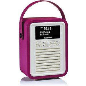Viewqwest Retro Mini Portable Digital Pink Vq Mini Pk Radios