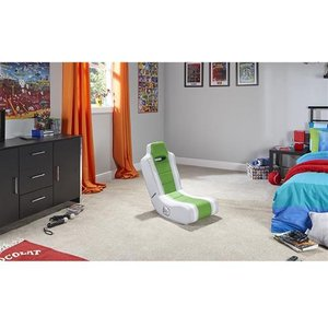 X Rocker Hydra Console Gaming Chair Green White 5100001 Chairs
