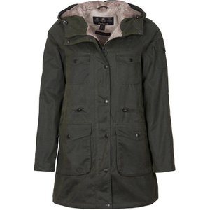 Barbour Womens Corrie Wax Jacket Sage/natural 12 Womens Outerwear, Sage/Natural
