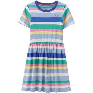 Crew Clothing Girls Jersey Stripe Dress Multi 5-6 Childrens Clothing, Multi