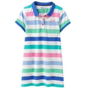Crew Clothing Girls Polo Stripe Dress Multi 8-9 Childrens Clothing, Multi