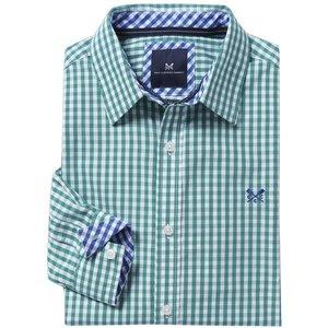 Crew Clothing Mens Classic Gingham Shirt Eucalyptus Medium Mens Tops, Eucalyptus