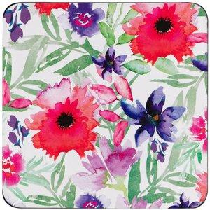 Denby Watercolour Floral Set Of 6 Coasters Kitchen