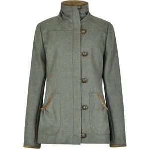 Dubarry Womens Bracken Tweed Utility Jacket Rowan 12 Womens Outerwear, Rowan
