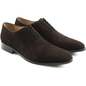 Fairfax & Favor Mens Houghton Suede Brogue Chocolate Suede 8 (eu42) Mens Footwear, Chocolate Suede