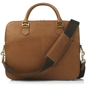 Fairfax & Favor Mens Westminster Laptop Bag Chocolate Leather Bags, Chocolate Leather