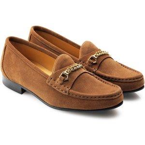 Fairfax & Favor Womens Apsley Suede Loafer Tan Uk 5 (eu 38) Womens Footwear, Tan