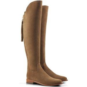 Fairfax & Favor Womens Flat Amira Boots Tan Suede 7.5 (eu41) Womens Footwear, Tan Suede