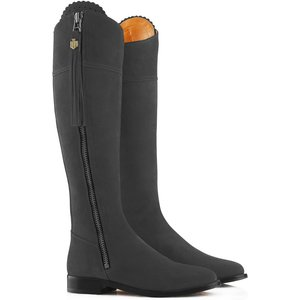 Fairfax & Favor Womens Flat Regina Boots Grey Suede 6 (eu39) Womens Footwear, Grey Suede