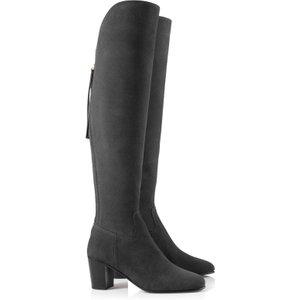 Fairfax & Favor Womens Heeled Amira Boots Grey Suede 7 (eu40) Womens Footwear, Grey Suede