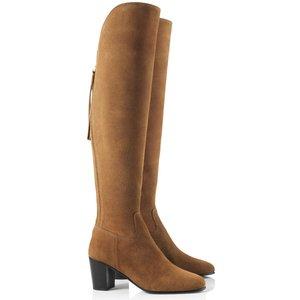 Fairfax & Favor Womens Heeled Amira Boots Tan Suede 5 (eu38) Womens Footwear, Tan Suede
