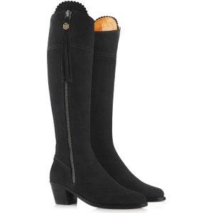 Fairfax & Favor Womens Heeled Regina Boots Black Suede Uk7.5 (eu41) Womens Footwear, Black Suede