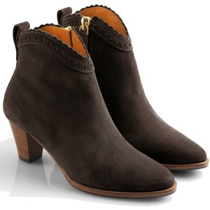 Fairfax & Favor Womens Regina Ankle Boots Chocolate Suede 7 (eu40) Womens Footwear, Chocolate Suede