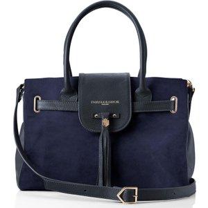 Fairfax & Favor Womens Windsor Handbag Navy Bags, Navy