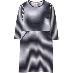 Joules Emilie 3/4 Sleeve Jersey Dress Navy Cream Stripe 16 Womens Dresses & Skirts, Navy Cream Stripe