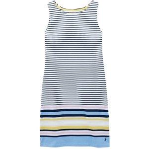 Joules Womens Riva Sleeveless Jersey Dress Blue Multi Stripe 10 Womens Dresses & Skirts, Blue Multi Stripe