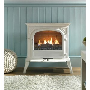 Ekofires Eko Fires 6010 White Flueless Gas Stove Heating & Cooling