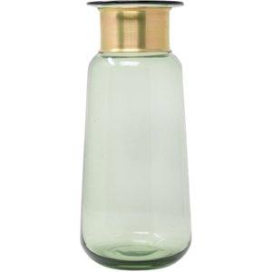 Natural Nkuku Ltd Miza Glass Vase - Green (large)