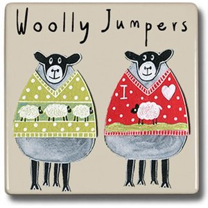 Moorland Pottery Woolly Jumpers Sheep Coaster