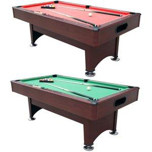 Walker & Simpson Crosby 7ft Pool Table With Ball Return Sub 8446ctr Mahog